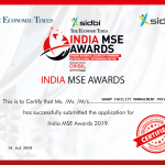Sharp Hrd Service awarded by India MSE Award